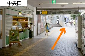 代官山駅中央口を出る