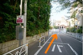バス停を直進